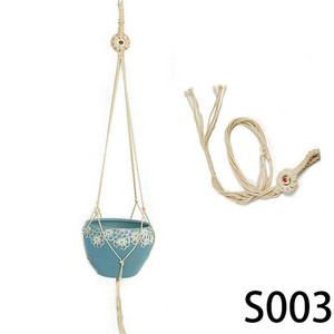 Image 2 - Retro Macrame Plant Hanger Garden Flower Pot Holder Hanging Rope Basket Decor Hanging Basket Wall Creativity