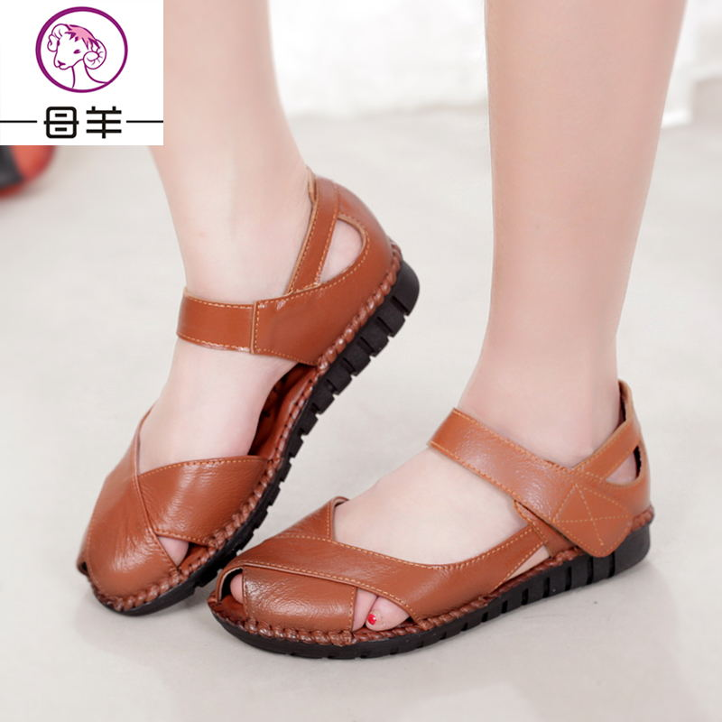 Summer Shoes Women Genuine Leather Soft Outsole Flat Shoes Woman Open Toe  Sandals Comfortable Women s Shoes Women Sandals-in Women s Sandals from  Shoes on ... 83d7f2bbba
