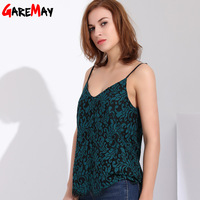 Garemay Womens Tops And Blouses 2018 Sexy Lace Summer Tops Big Size Women Clothes Halter Women