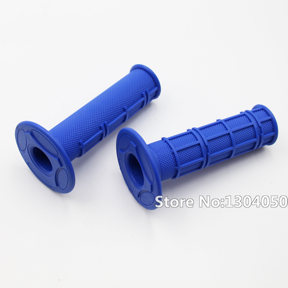 Blue Mx Synergy Half Waffle Motocross Grip SOFT COMPOUND Dirtbike Enduro Hand Grips new ...