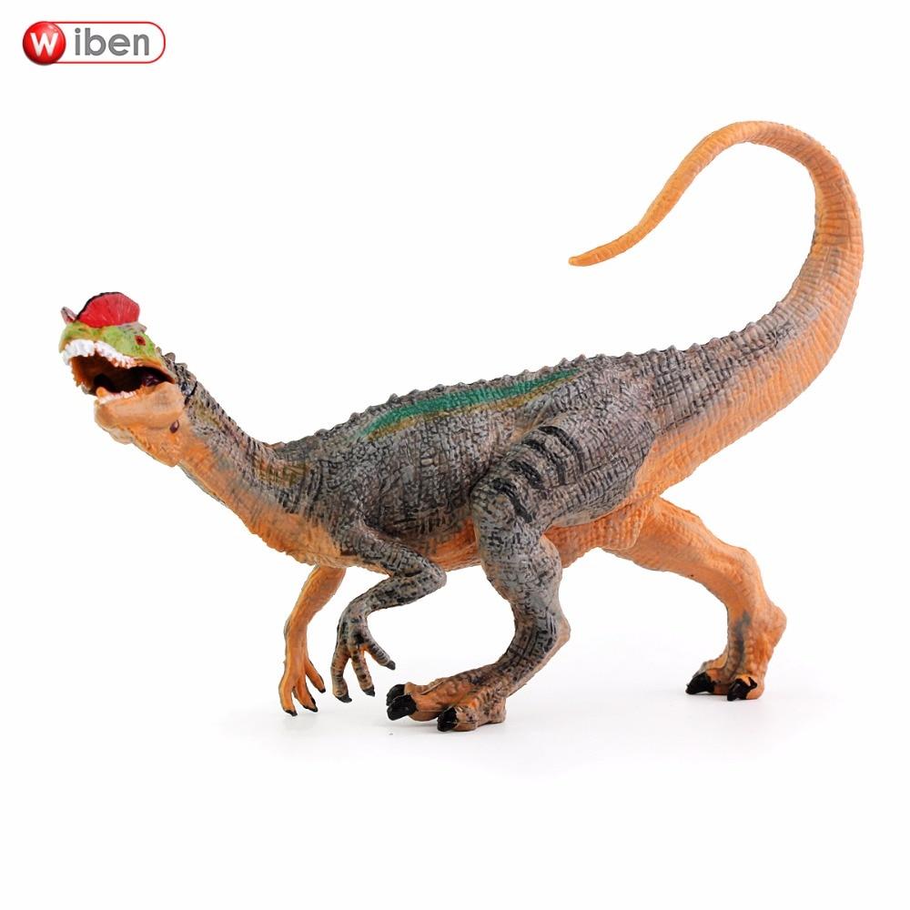 Wiben Jurassic Dilophosaurus Dinozauru rīcības un rotaļu figūriņas Dzīvnieku modeļa kolekcija Mācīšanās un izglītojošie bērni Ziemassvētku dāvana