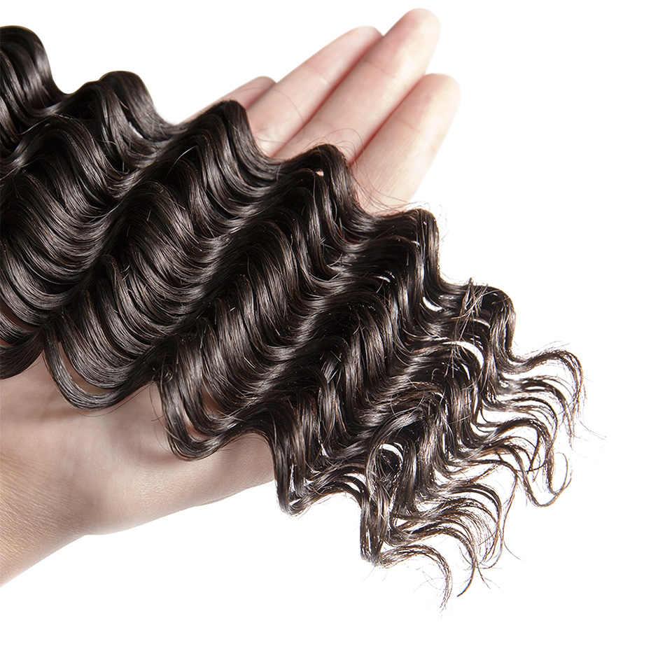 Ms lula волосы 10 пучки бразильских волос глубокая волна 100% пряди человеческих волос для плетенка в виде волос, не имеющих повреждения кутикулы, чешуйки которой ориентированы в одном направлении 10 шт./лот натуральный Цвет Бесплатная доставка