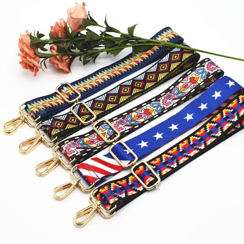 Bag Handles Handbag Strap Colorful Shoulder Rainbow Hanger Belt Messenger Crossbody Bag Strap Decoration Accessory KZ151357