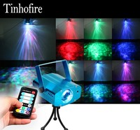 Remote Control Auto Sound Control 7 Colors RGB LED Water Lines Stage Light Lamp Disco Laser