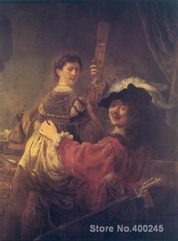Classic paintings The Prodigal Son in the Brothel Rembrandt van Rijn Art reproduction High quality Hand painted