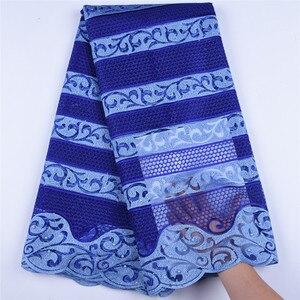 Image 1 - Afrika Net dantel kumaş 2019 işlemeli nijeryalı danteller kumaş yüksek kaliteli fransız tül dantel kumaş düğün parti için A1607