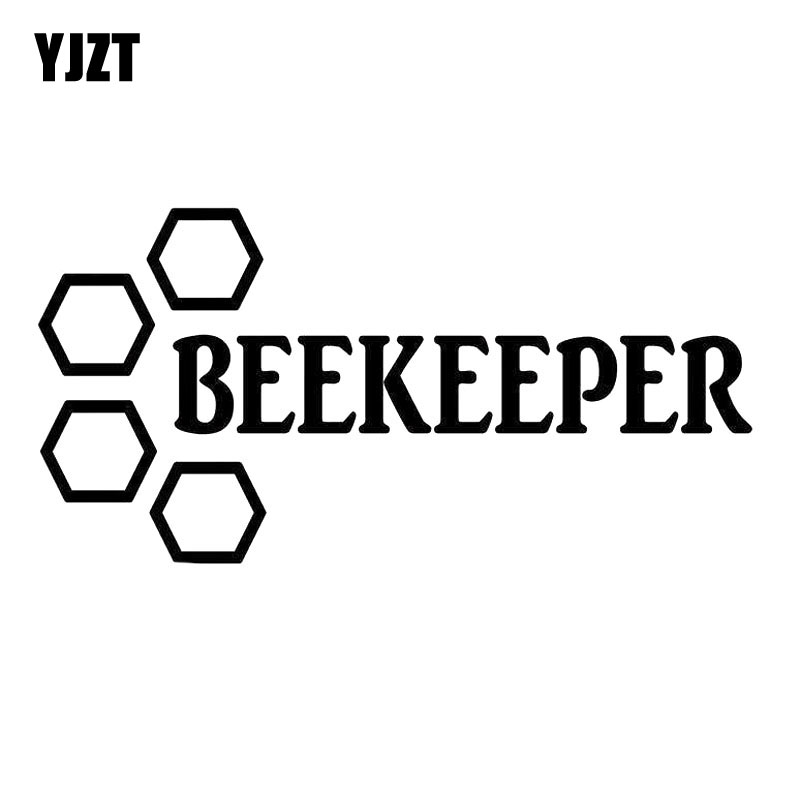 YJZT 16X8CM BEE KEEPER BEEKEEPER Originality Vinyl Decal Black/Silver Car Sticker Car-styling  S8-0877