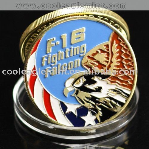 WHOLESALE LOT OF 100 NEW @ USAF F-16 Fighting Falcon Challenge Coin Badge 002