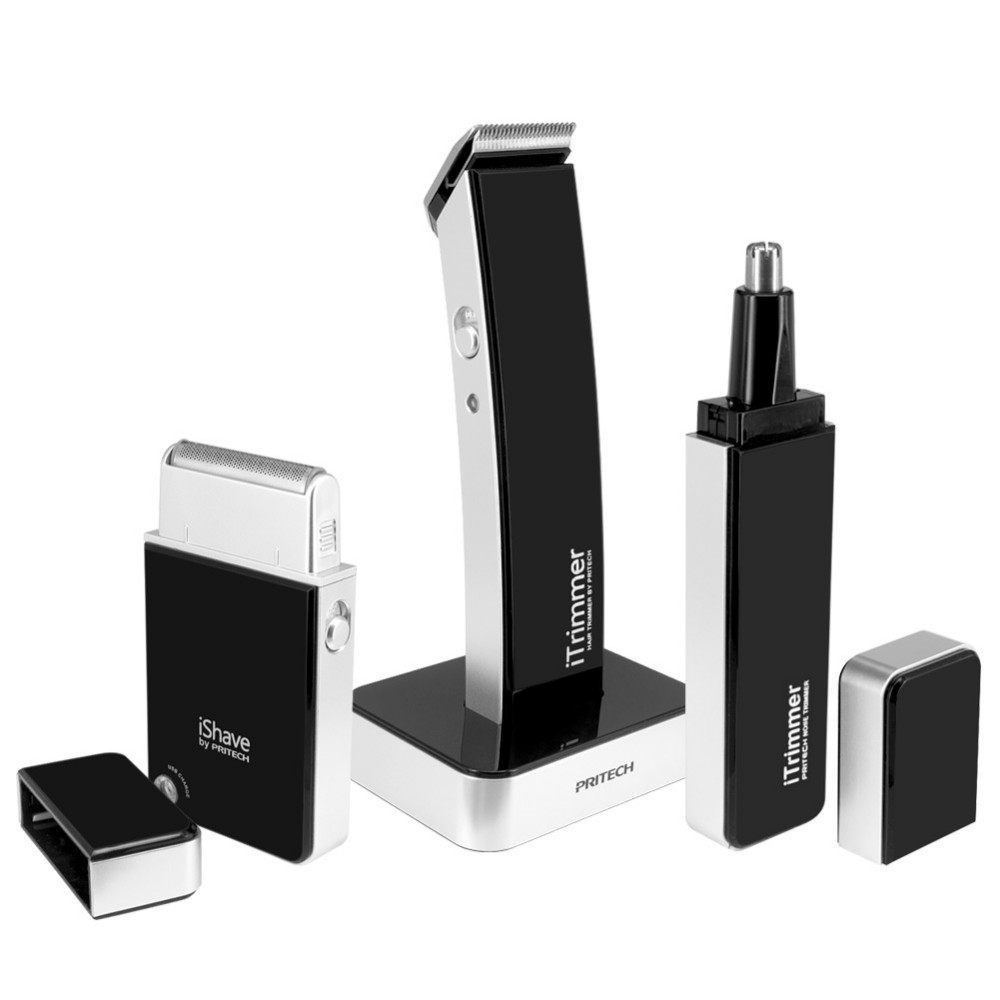 ФОТО Pritech 3 in 1 Body Nose Trimmer + Hair Clipper + Shaver Personal Face Care Cleaner Sets