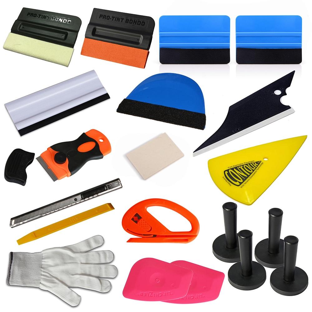 EHDIS 20 pcs Carbone D'enveloppe De Voiture De Vinyle Outils Raclette Fenêtre Teinte Réparation Tool Set Aimant Porte-Film De Vinyle Cutter Voiture accessoires