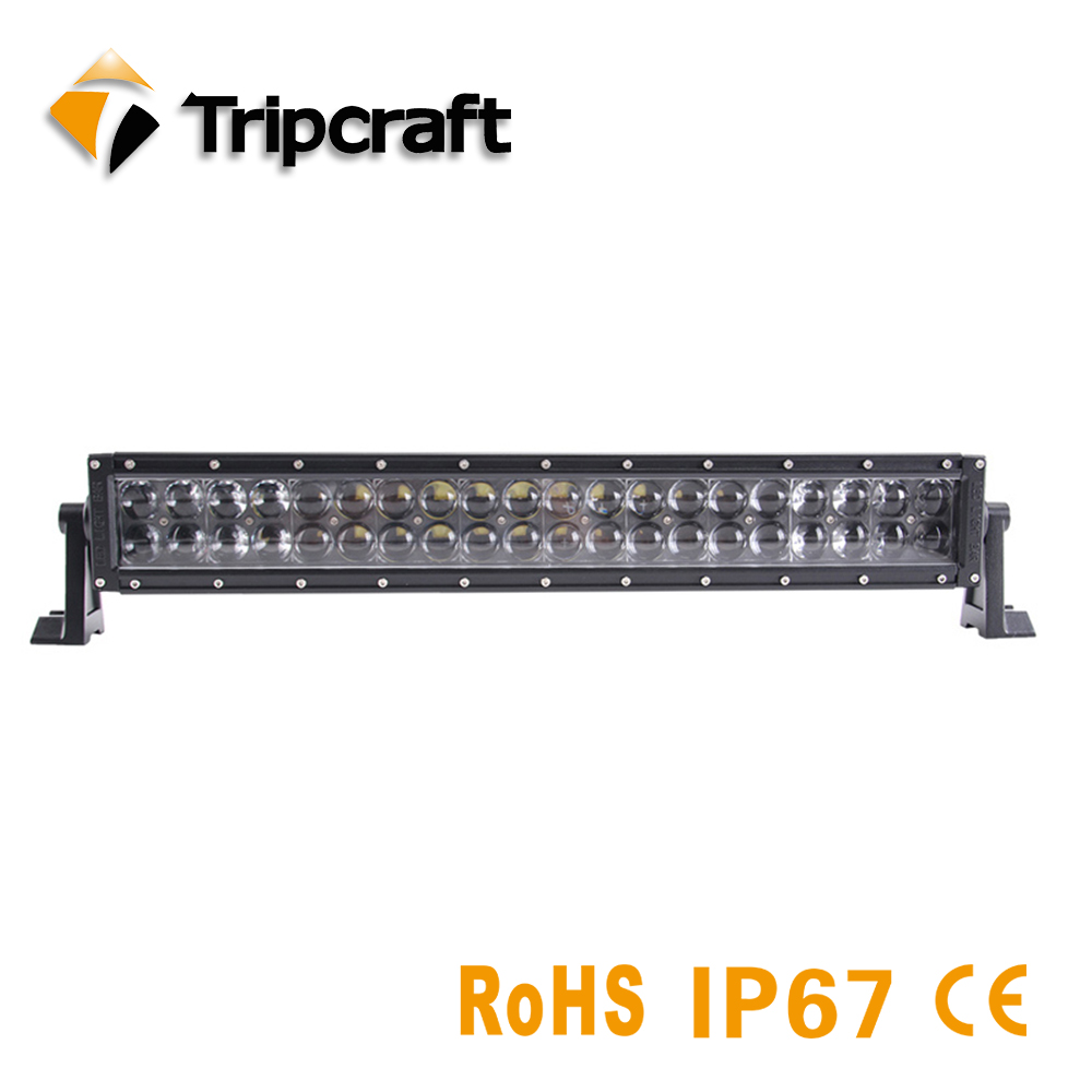TRIPCRAFT 4D 20inch 120W LED Work Light Bar for Driving Car Tractor OffRoad 4WD 4x4 Truck SUV ATV Combo beam IP67 Waterproof high power 4d 180w led work light bar single row 29 3inch car lamp for offroad 4x4 truck atv suv 4wd combo beam driving fog lamp
