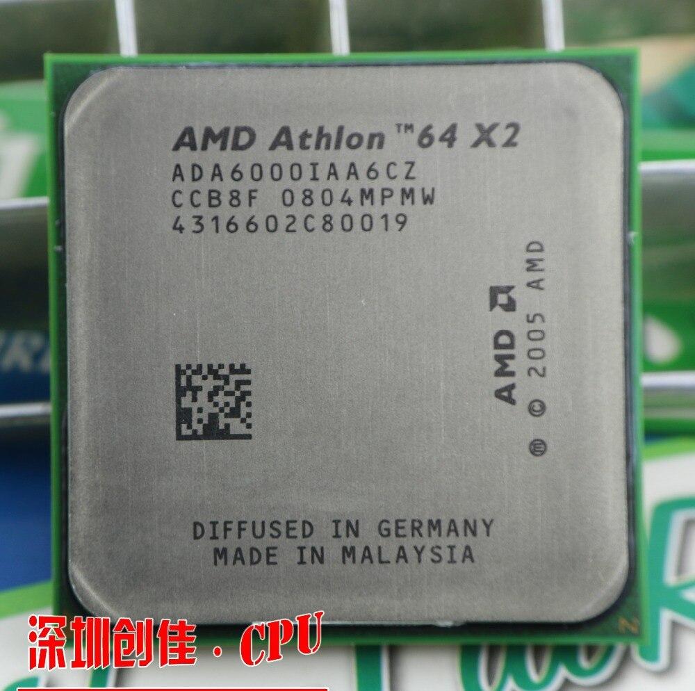 Livraison gratuite AMD DUAL Core Athlon 64X2 6000 + 3.0 GHZ Socket AM2 2 mb cache CPU processeur scrattered pièces processeur