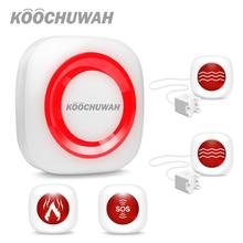 KOOCHUWAH Wireless GSM Alarm Systems Security Home Dail Call SMS Emergency Alarm Residential Alarm Password Kedpad Smart Home