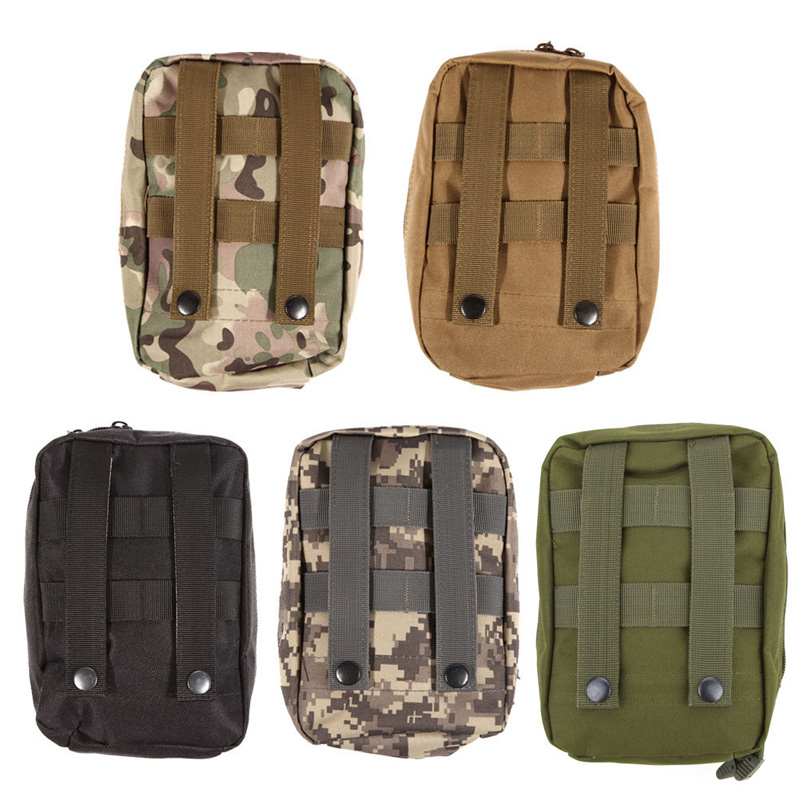 Wilderness Survival Hunting Bag Waterproof Nylon Tactical Molle System Waist Bag Travel Medical Military First Aid Kit Pouch