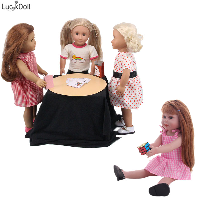 Doll Accessories Cube And Poker(playing Card) Fit 18 Inch American Doll&43cm Baby Doll,Children's Toys, Children Can Also Use