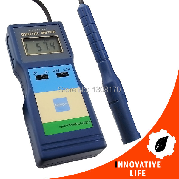 Professional 2-in-1 Multi-Function Digital Relative Humidity RH Temperature Meter Industrial Tester digital indoor air quality carbon dioxide meter temperature rh humidity twa stel display 99 points made in taiwan co2 monitor