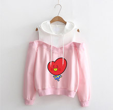 BTS BT21 Off-Shoulder Hoodies (24 Models)
