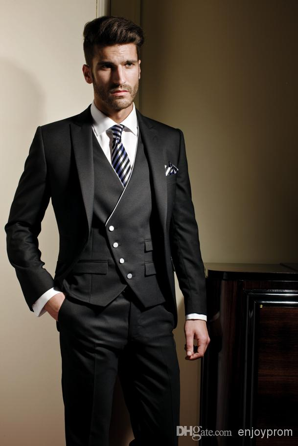 Online Buy Wholesale mens black tuxedo suit from China mens black ...