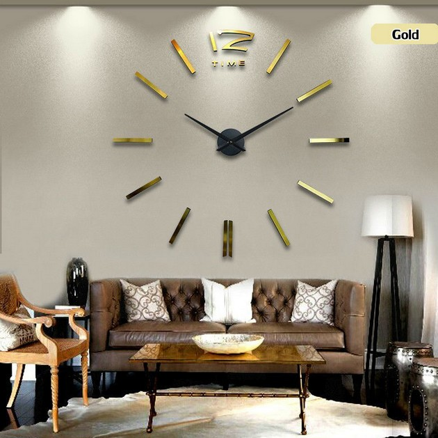 US $13.49 46% di SCONTO|Decorazioni orologio da parete grande orologio da  parete a specchio design moderno, orologi da parete di grandi dimensioni.  ...