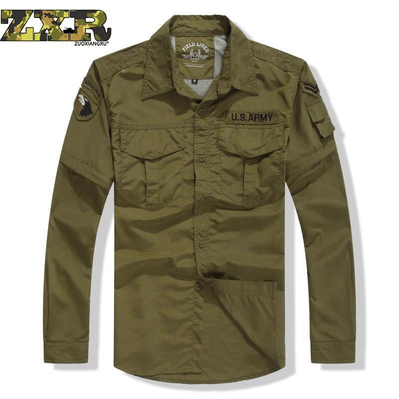 Printemps et été armée militaire Fans rapide séchage costume chemise et pantalon hommes double usage sec costume sauvage survie randonnée chemises