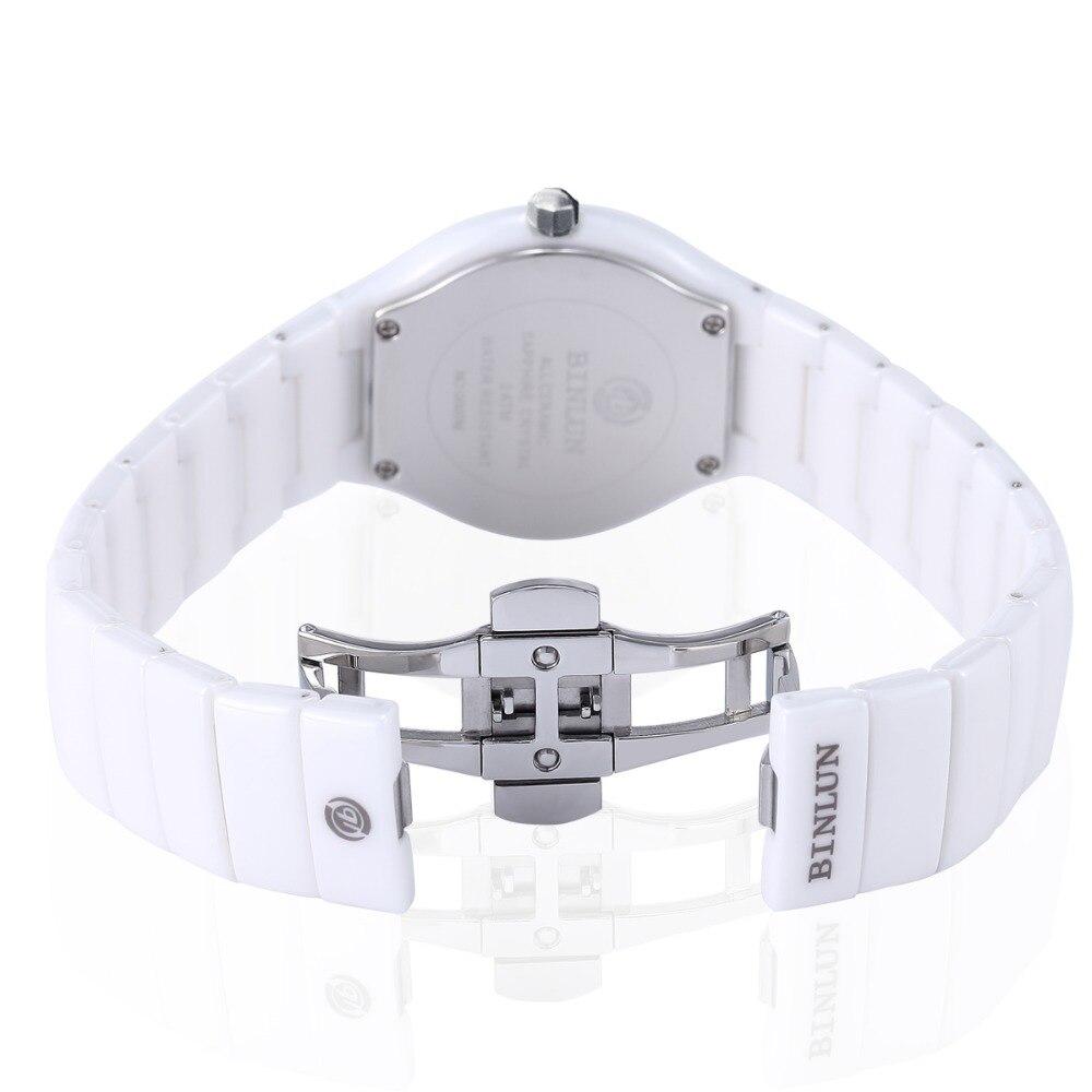 Skgen женские белые керамические кварцевые часы Роскошные наручные часы для женщин Повседневное платье relojes para mujer SKW2300 - 3