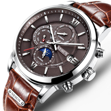 Nesun Assistir Homens de Luxo Da Marca suíça Mecânico Automático Dos Homens Relógios relogio masculino relógio de Safira À Prova D' Água Luminosas N9027-1