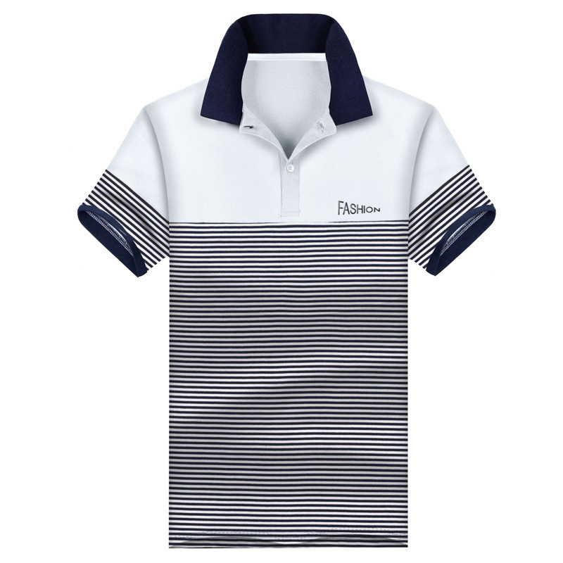 Breathable 95% Cotton Men   Polo   Shirt Plus Casual Male Summer Fashion New Stitching Short SLeeved Clothing