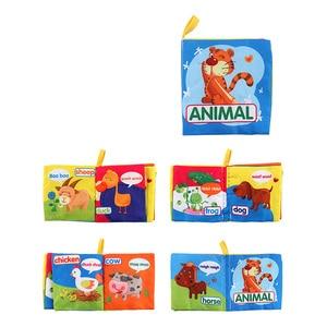 Image 5 - Bebek oyuncakları bilgi bebek bezi kitap etrafında çoklu dokunmatik çok fonksiyonlu eğlence ve çift renkli yenidoğan yatak tampon 0 12 ay