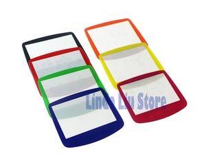 Image 4 - ChengChengDianWan 7 צבעים עבור GBA מערכת החלפת מגן פלסטיק מסך עדשת מגן 10 יח\חבילה