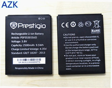 AZK 100% New 2500mAh Replacement battery for PSP3530 DUO Battery for Prestigio Muze D3 3530 Duo E3 PSP3531DUO Muze A7 PSP7530DUO