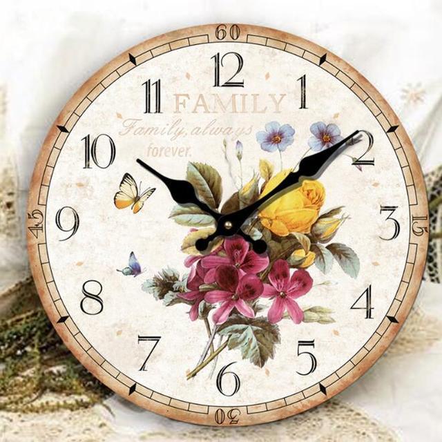 Wohnzimmer Wanduhr | Holz Handwerk Uhr Grosses Wohnzimmer Wanduhr Europaischen Garten Uhr