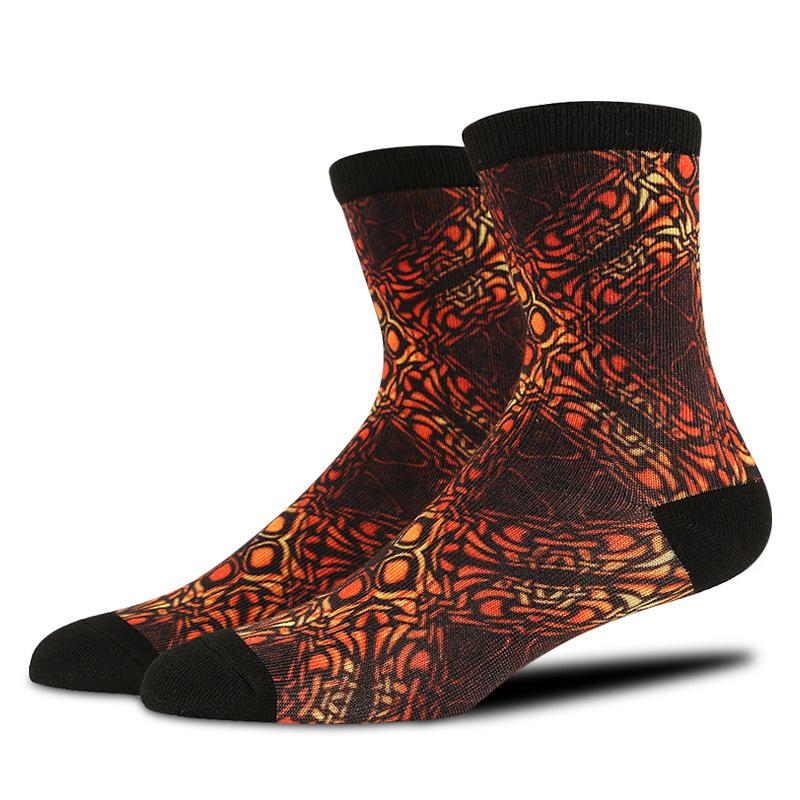 Fashion Men Socks with 3d Printed Antumn Witner Medium Thick Warm Crew Socks Men Deodorant Socken Business Dress Socks BOC153