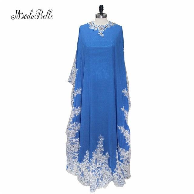 Modabelle Dubaï Caftan Robes de Soirée Formelles Robes Longues En Dentelle  Bleu Foncé Cristal Soirée Robes 03112fe447f