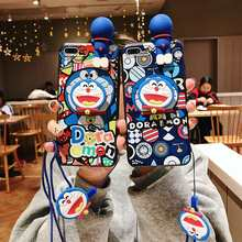Cute Japan Cartoon Cat Phone Case For Xiaomi Redmi 6A 5A 4A Note 4X 4 5 6 7 Pro 5 Plus Soft Silicone Doll Lanyard Back Cover(China)