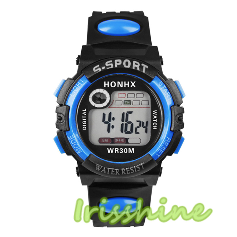 Irisshine #1144 Children Watch Multifunction Boys Girls Digital LED Quartz Alarm Date Sport Waterproof Watch