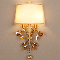 Bathroom Crystal Light Staircase Wall Lighting Wall Mount Makeup Mirrors Crystal Wall Sconces Rustic Wall Lamp Classic