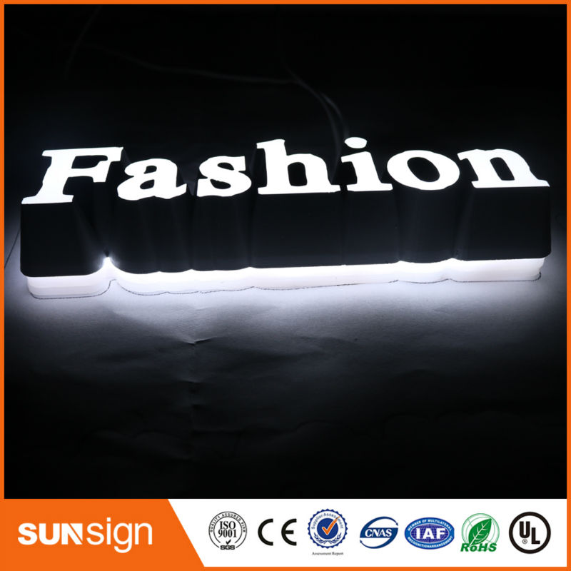 Custom Illuminated Sign Letters For Smoke Shop Sign