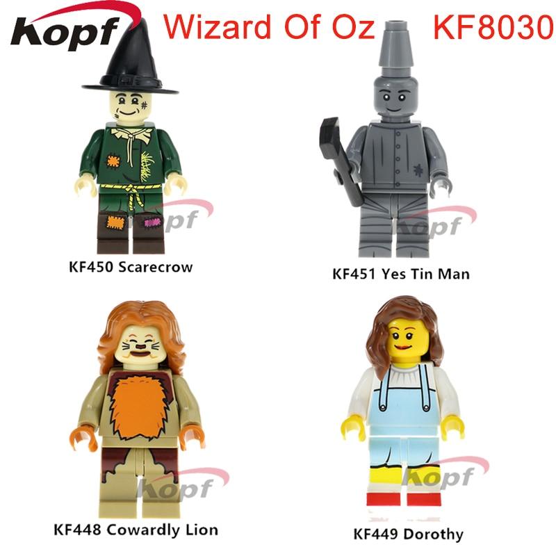 KF8030 Building Blocks The Wonderful Wizard Of Oz Action Figures Yes Tin Man Cowardly Lino Dorothy Scarecron Bricks Kids Toys