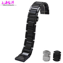 youyang High quality Ceramic Black White strap bracelet band women men 16mm 18mm 20mm ceramic watch
