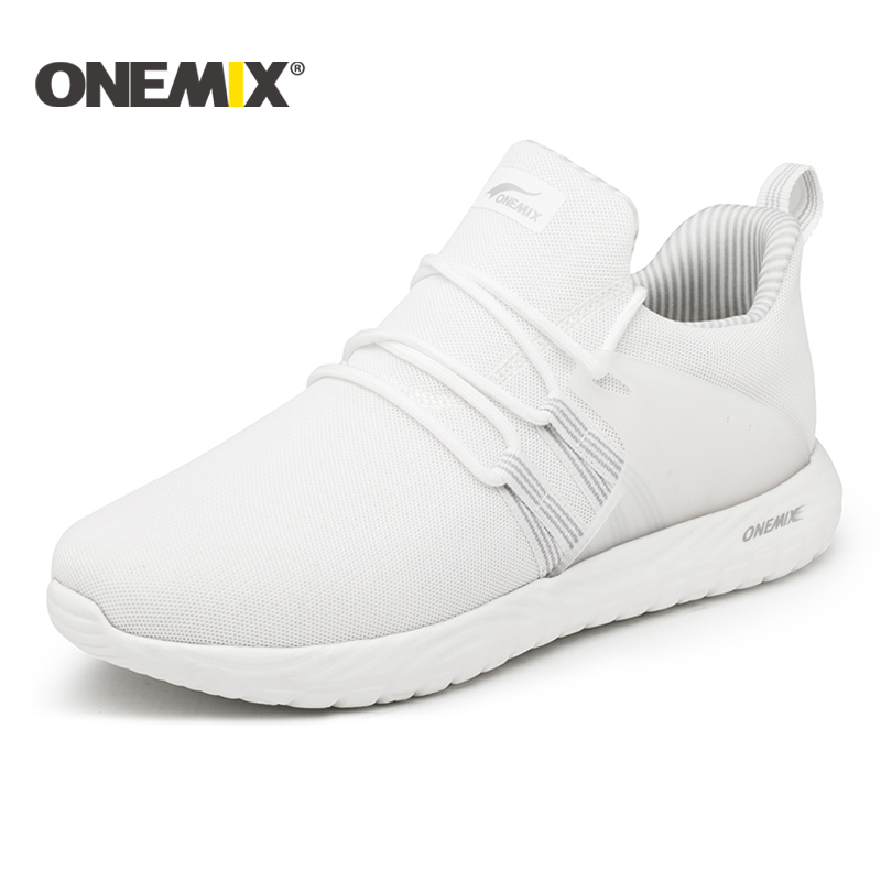 все цены на Onemix lightweight running shoes women breathable mesh sneakers for outdoor walking trekking shoes men sports sneakers for women онлайн