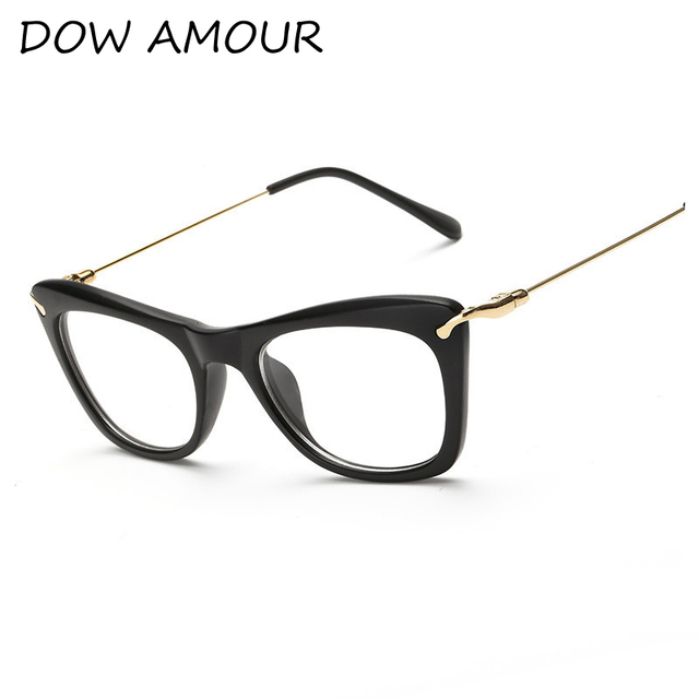 2017 Clear Lens Glasses Men Fashion Cat Eye Alloy Frame Eyeglass ...