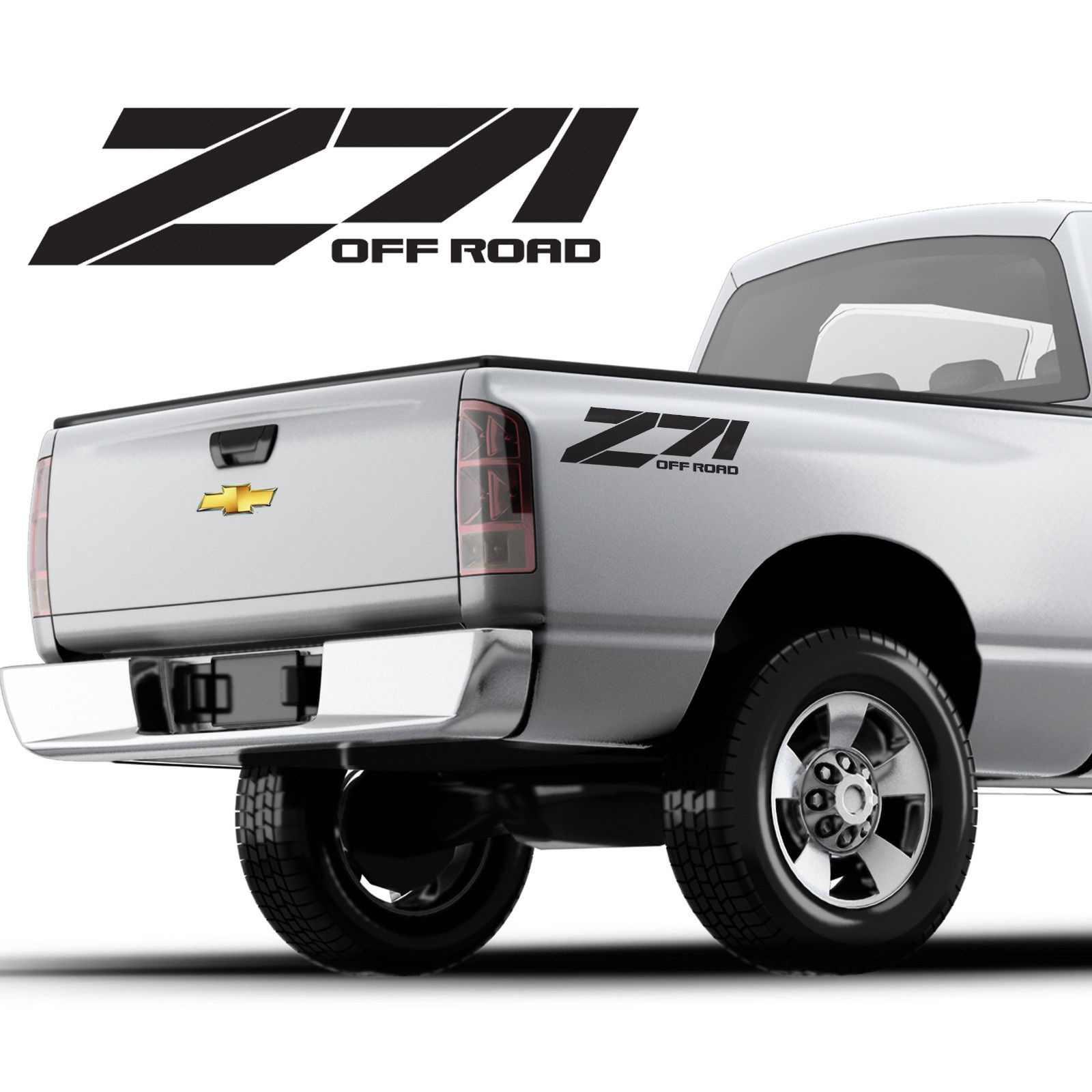 Для (2 шт.) z71 offroad виниловые наклейки стикер chevy, chevrolet silverado, индивидуальный дизайн