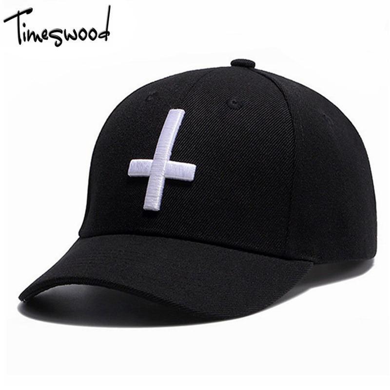 [TIMESWOOD] Men's Cross Baseball Cap LOGO Embroidery Adjust Hat For Men Women Hip Hop 6 Panel Bones Masculino De Marca 2017 New
