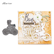 JC Metal Cutting Dies for Scrapbooking Bicycle Girl Cut Card Making Stencil Craft Folder Paper Album Model 2019 Die New