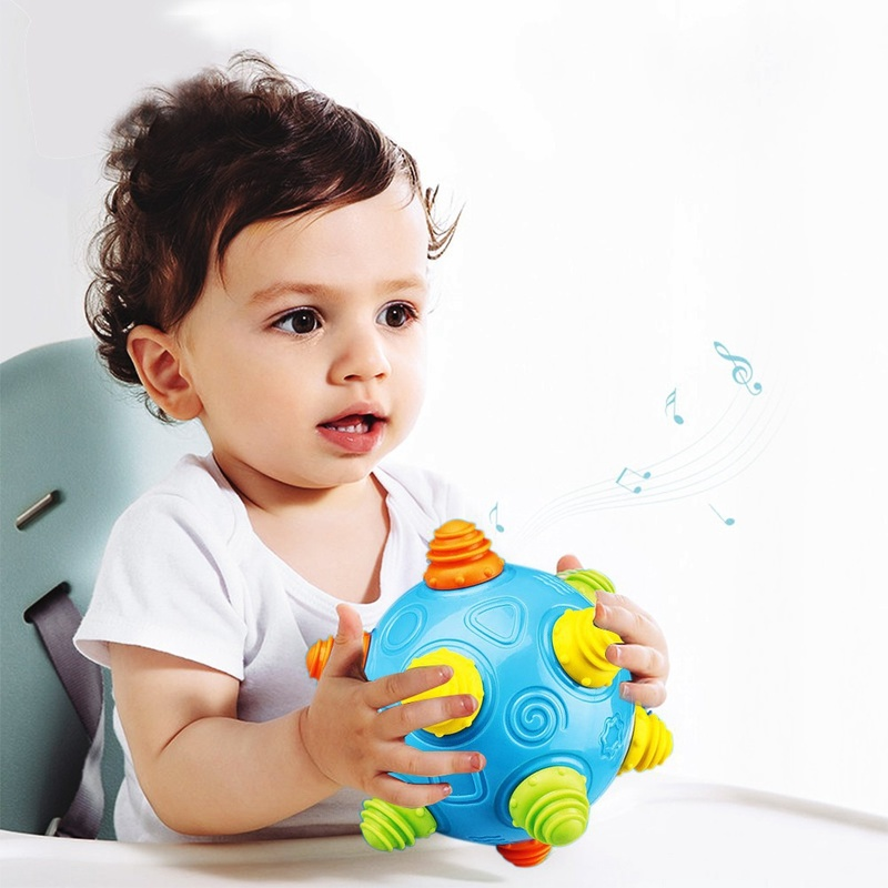 Zhenwei Early Educational Baby Jumping Ball Light Sound Vocal Toys Toddler  Baby Sport Toys Hand Held Games Christmas Toy