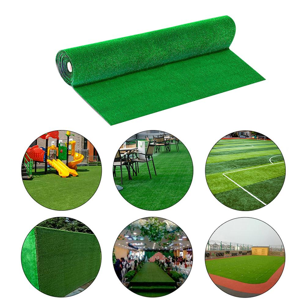 Artificial-Turf-Set Lawn Green-Grass Synthetic 1x1m-1x2m Rivet Drainage Simulation-Plants
