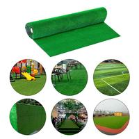 1x1M 1x2M Artificial Grass Lawn synthetic drainage Green grass Simulation Plants artificial turf set (turf + 4Pcs steel rivet)