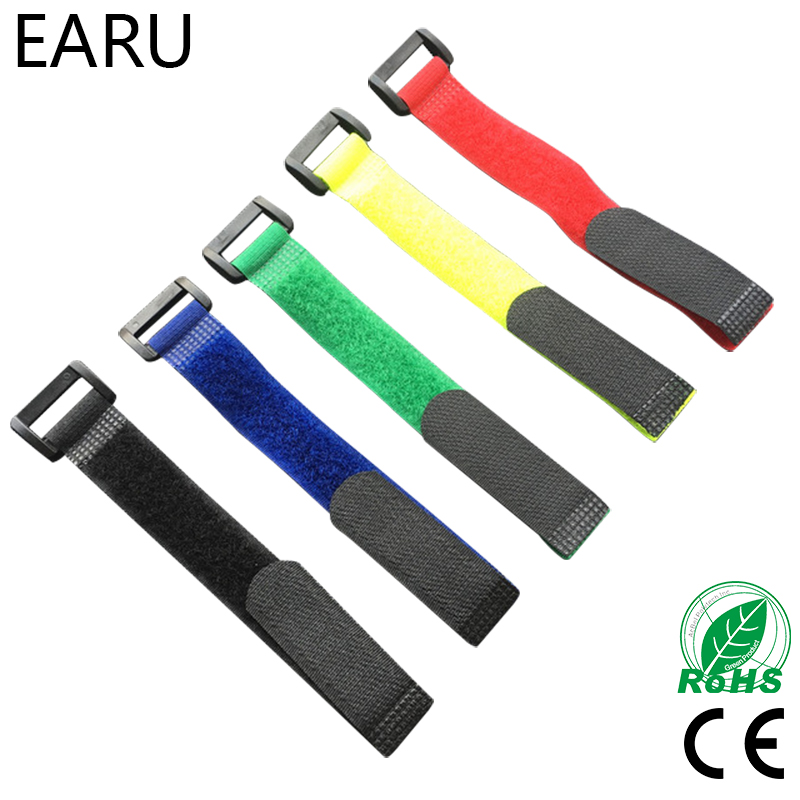 10pcs 8inch Self Adhesive Reusable Cable Tie Nylon Fastener Hook and Loop Strap Cord Ties PC TV Organizer 20cm Length 2cm Width new magic sticker strap nylon lipo battery tie strap fastener reusable cable wrap 10pcs bag for qav250 f450 500 550 quadcopter