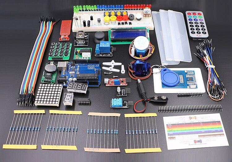 Avec boîte de vente au détail UNO Rev3 KIT pour Arduino Kit de démarrage RFID apprendre Suite moteur pas à pas + ULN2003 livraison gratuite 1 ensemble