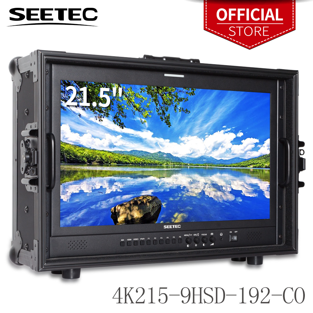 "Seetec 4K215-9HSD-192-CO moniteur de diffusion 21.5 ""IPS Full HD 1920x1080 avec valise de directeur 3G-SDI HDMI AV YPbPr"